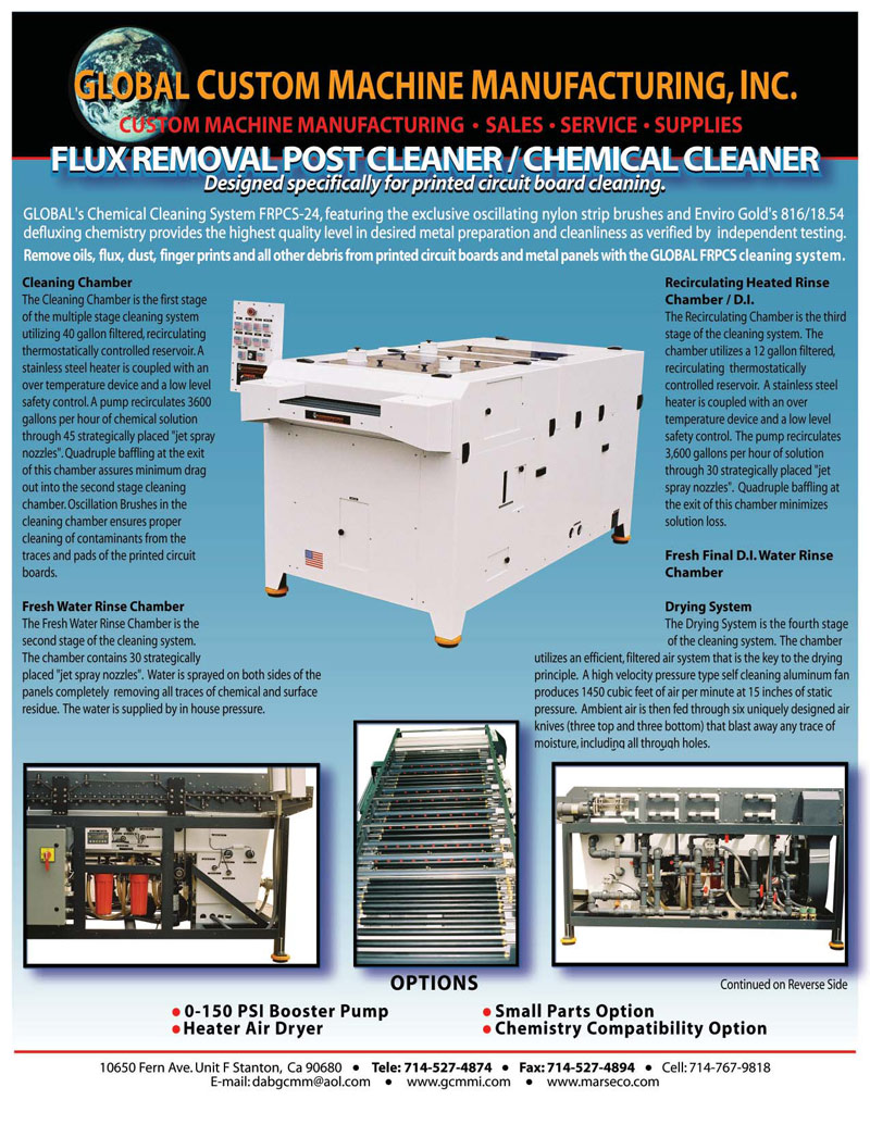 Flux Removal Post Cleaner / Chemical Cleaner